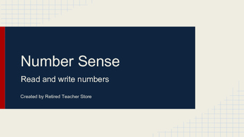 Number Sense - Read and Write Numbers