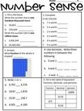 Number Sense Review WS