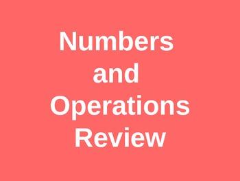Number Sense Review