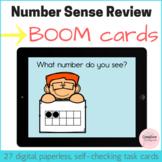 Number Sense Review Digital Task Cards with BOOM Cards for Kindergarten
