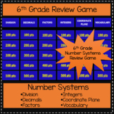 6th Grade Number Systems - Game Show Review Game