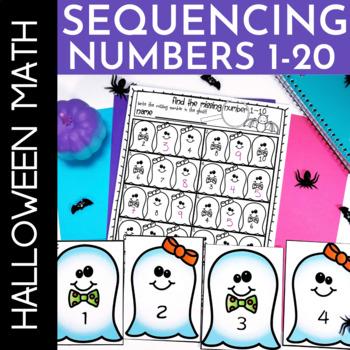 Halloween Math Activities Kindergarten Sequencing Numbers 1-20