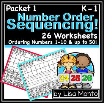 Number Sense Sequencing up to 100! by Lisa Monto