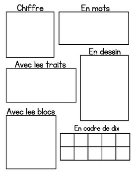 Number Sense Sheets 1-9 (in French)