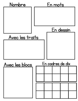 Number Sense Sheets 10-20 (in French)