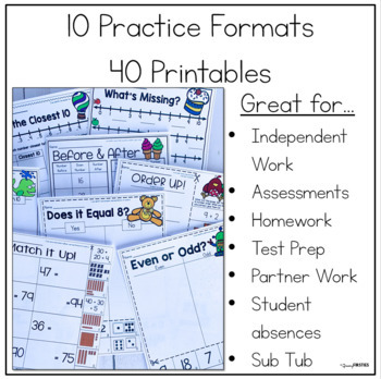 Number Sense Differentiated Printables - Math Skill Builder Series