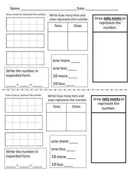Number Sense Skill Worksheets