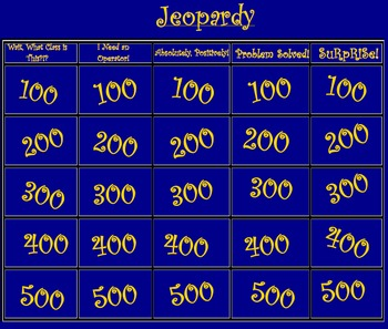 Number Sense & Solving Equations/Inequalities Jeopardy, Re