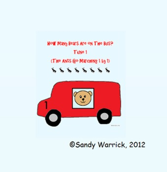 Number Sense Songs for How Many Bears are on the Bus Set I
