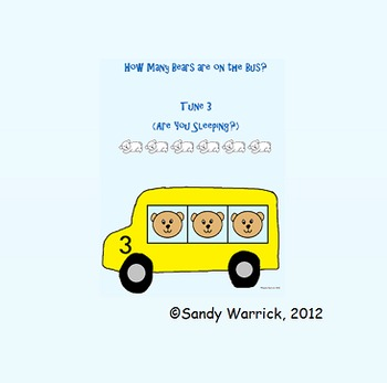 Number Sense Songs for How Many Bears are on the Bus Set III