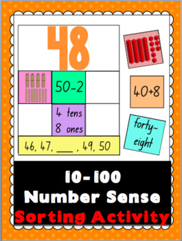Number Sense Sorting Activity to 100