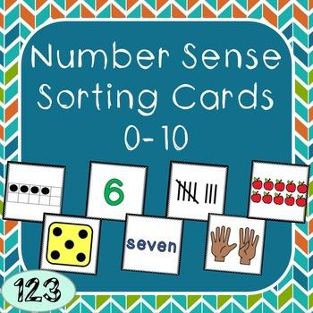 0-10 Number Sense Sorting Cards