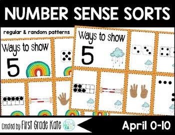 Number Sense Sorts for April (0 to 10)