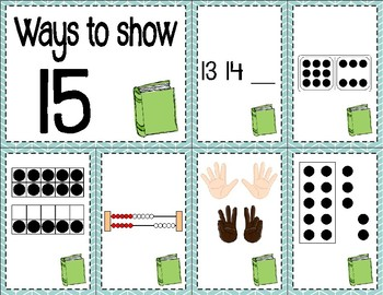 Number Sense Sorts August & Back to School (11 to 20)