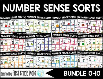 Number Sense Sorts BUNDLE (0 to 10)
