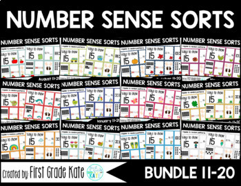 Number Sense Sorts GROWING BUNDLE (11 to 20)