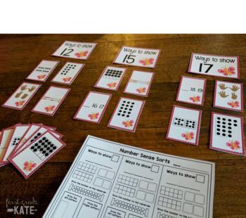 Number Sense Sorts GROWING BUNDLE (11 to 20)