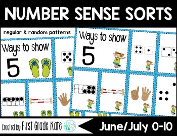 Number Sense Sorts for June & July (0 to 10)