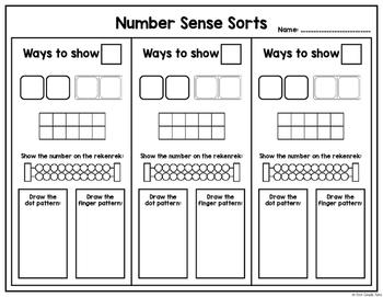 Number Sense Sorts Kids (0 to 10)
