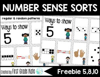 Number Sense Sorts Kids FREEBIE (0 to 10)
