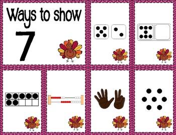 Number Sense Sorts for November (0 to 10)