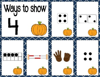 Number Sense Sorts for October (0 to 10)