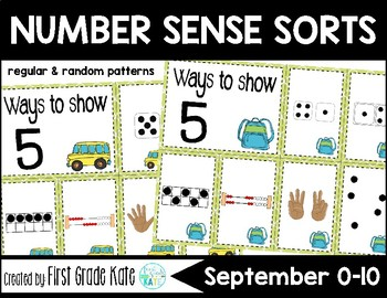 Number Sense Sorts for September (0 to 10)