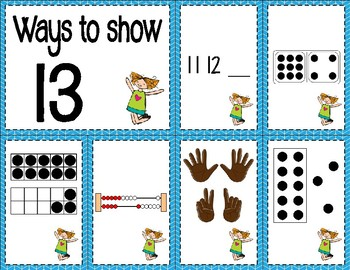 Number Sense Sorts for June & July (11 to 20)