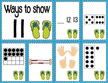 Number Sense Sorts for June & July (11 to 20)