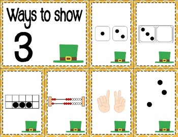 Number Sense Math Center for March (0 to 10)