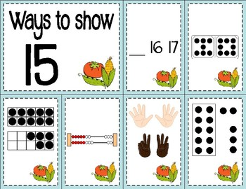 Number Sense Sorts for May (11 to 20)