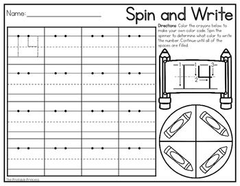 Spin and Write {Number Formation}