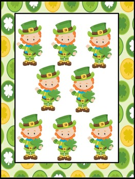 Numbers - Counting, Matching, Number Words - St Patrick's Day Theme