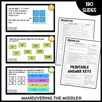 Number Sense Starters:  180 Math Prompts for Numbers and Operations