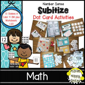 HUGE Number Sense Subitizing Using Dot Cards Pack