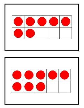 Number Sense Subitizing Cards