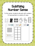 Number Sense Subitizing Center
