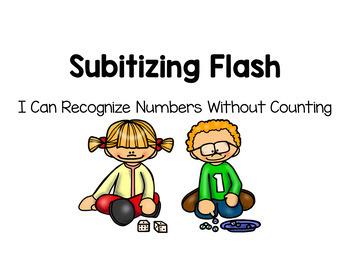 Number Sense Subitizing Practice to use with SmartBoard