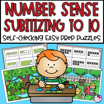 Number Sense Subitizing Numbers to 10 Puzzles