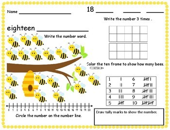 Ten Frames Number Lines Tally Marks  Math Center Mats write and wipe cards