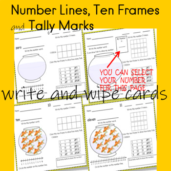 NUMBER SENSE  write and wipe cards