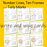 Number Lines, Ten Frames and Tally Marks  write and wipe cards