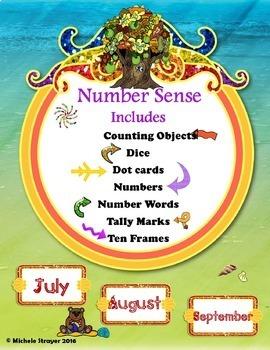 Number Sense Summer Bundle: July, August, September