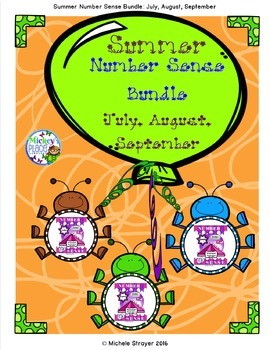 Number Sense Summer Bundle: July, August, September