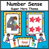 Numbers Counting, Matching, Number Words -  Super Hero Theme