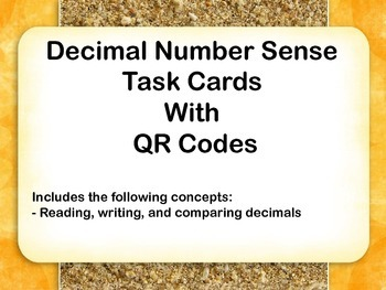 Number Sense Task Cards- Decimals