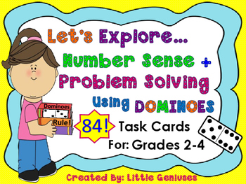 Math Task Cards For Grades 1-4 Using Dominoes: Basic Opera