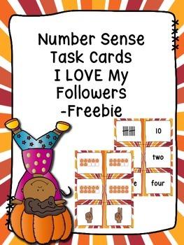 Number Sense Task Cards  -I LOVE My Followers Freebie