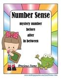 Number Sense Task Cards - Mystery Number, Before, After, I