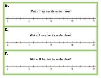 Number Sense Task Cards Using a Number Line